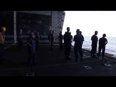 USS Green Bay Docks in Darwin for Talisman Saber 15