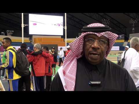 دحلان الحمد -رئيس الاتحاد القطري لألعاب القوى-كأس اتحاد العاب القوى للصالات - رجال 6-8- يناير 2014