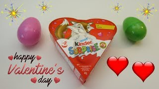 Valentines Day Kinder Surprise Eggs & Fun Wind Up Toys For Kids