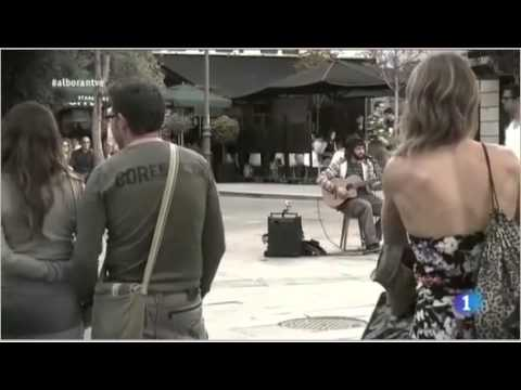 Pablo Alboran performance artista callejero
