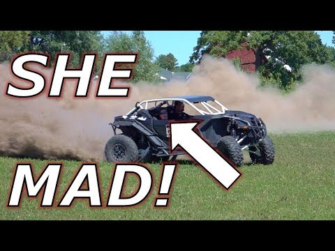 Mother in law in a 225HP E85 Can-Am Maverick X3!
