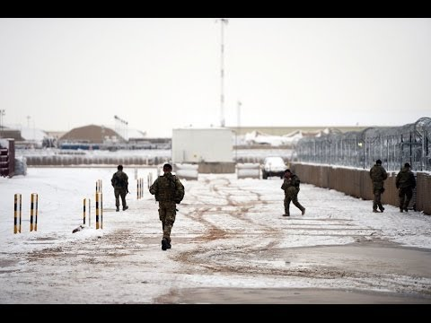 Freezing Temperatures Bring Snow to Camp Bastion 03.02.14