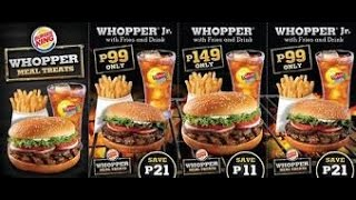 Burger King in Philippines and US.