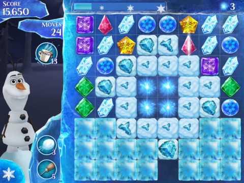 Frozen Free Fall Level 187 Live Action Play Walkthrough