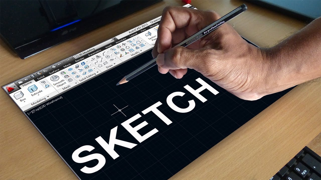 AUTOCAD SKETCH COMMAND FREE HAND SKETCHING YouTube