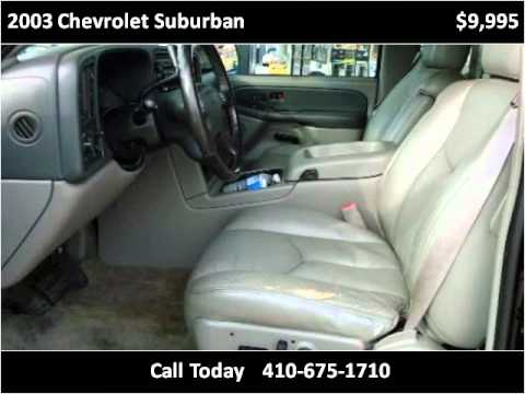 2003 Chevrolet Suburban Used Cars Baltimore MD