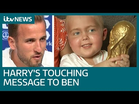 England star Harry Kane makes World Cup vow to young cancer patient | ITV News