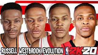 Russell Westbrook Ratings and Face Evolution (College Hoops 2K7 - NBA 2K20)