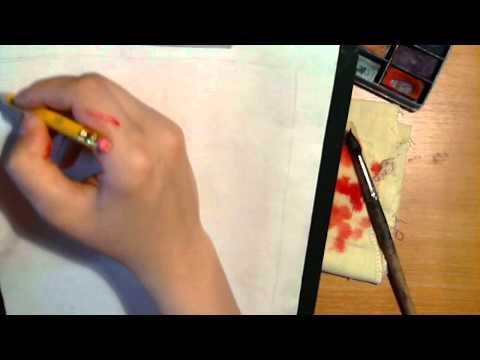 Уроки рисования акварелью - видео