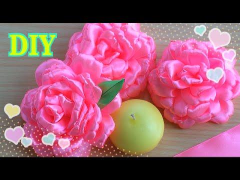 ЦВЕТЫ ИЗ АТЛАСНОЙ ЛЕНТЫ/DIY Easy Make Magic Flower,Tutorial/FLOWERS OF SATIN RIBBON