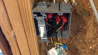 "4 gang switch box installation for ""new work"""
