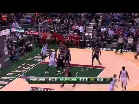 Milwaukee Bucks vs Portland Trailblazers 102-95 // 19.03.13// Game Recap // Full Highlights