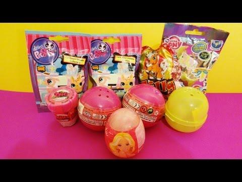 9 Surprises Unboxing Barbie, Hello Kitty, Disney Princess, My Little Pony, Littlest Pet Shop