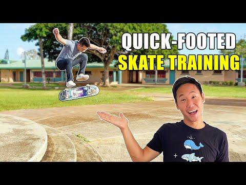 QUICK-FOOTED SKATE TRAINING | 360 Hardflip, Nollie 360 Doubleflip & More!