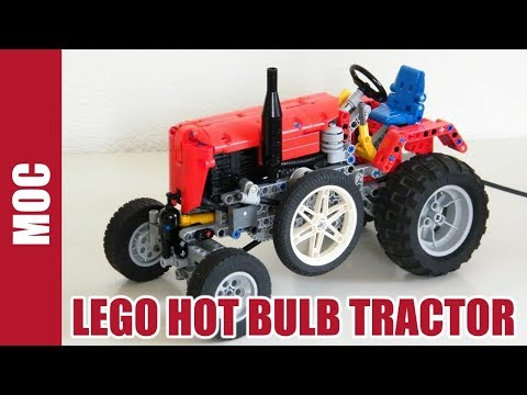 Lego Hot Bulb Pneumatic Tractor