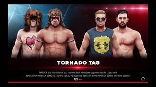 WWE 2K19 Ultimate Warrior,Cole Quinn Warrior VS Tyler Breeze,Fandango Tornado Tag Elimination Match