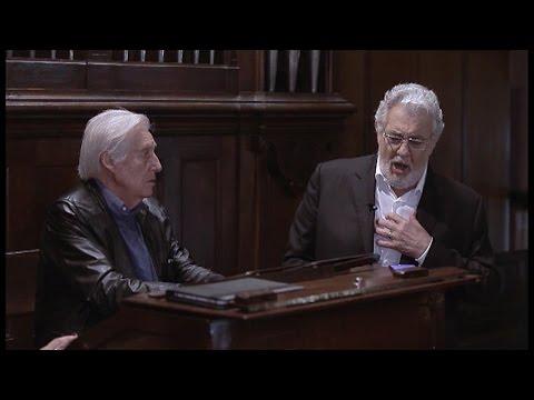 Plácido Domingo entona el 'Ave María' con Achúcarro al órgano