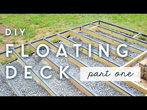 DIY Floating Deck | PART ONE | frame + moisture barriers
