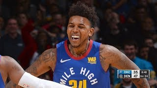 Nick Young Gets a Standing Ovation, Nails a Triple - Thunder vs Nuggets | Dec 14, 2018