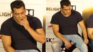 Did Salman Khan just EAT a piece out of his Jeans? Watch Video