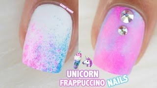 UNICORN FRAPPUCCINO INSPIRED NAILS | 3 EASY NAIL IDEAS