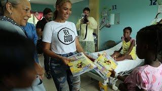 Beyonce visiting St. Damien Pediatric Hospital in Haiti