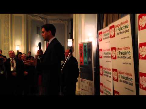 Ed Miliband addressing Lab Friends of Pal and Mid East 22 Sept 2014