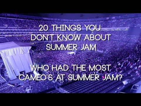Who had the Most Cameo's at Summer Jam?