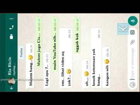 Cara Membuat Chatting Whatsapp FAKE - Asik Buat EKSIS Ke Orang Lain, Seru Dah !!!