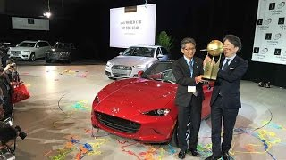 2016 Mazda MX-5 winner World Car of the Year Award at the New York Auto Show