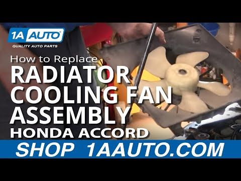How To Install Repair Replace Passenger Side Radiator Engine Cooling Fan Accord