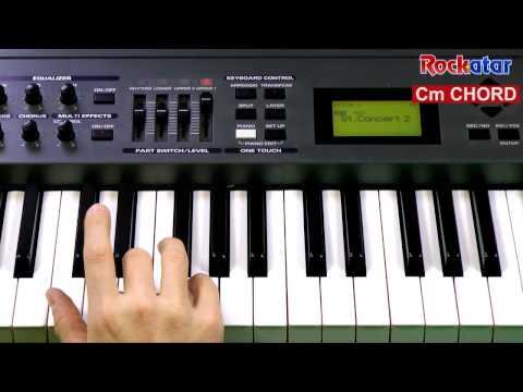 Cm chord on Keyboard