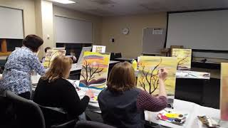 How to Create an Acrylic Painting (New Hampshire, MA) by Painting Circle, (Feb, 7, 2019)
