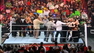 Brock Lesnar / John Cena Brawl  09/04/12 HD 1080p