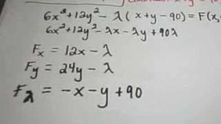 ❖ LaGrange Multipliers - Finding Maximum or Minimum Values ❖