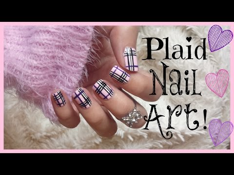 Pink Plaid Nail Art! | MissJenFABULOUS