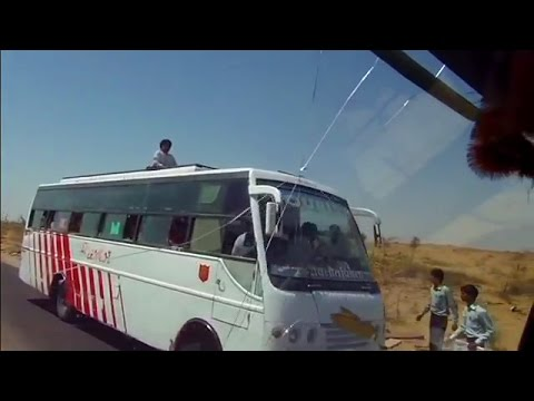 Awesome bus ride in the desert of Rajasthan, India