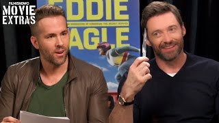 Eddie the Eagle (2016) - Ryan Reynolds 'Deadpool' Interviews Hugh Jackman 'Wolverine'