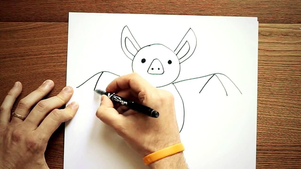 Come disegnare un pipistrello youtube for Foto di alberi da colorare