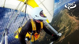 Hang Gliding Above the Ocean in 360º