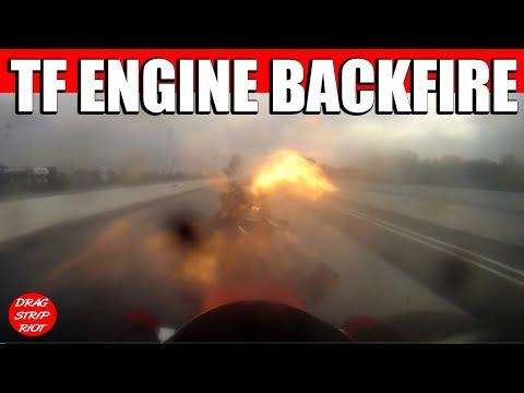 2013 March Meet Bakersfield Blower Explosion Onboard Nitro Top Fuel Drag Racing 2014 SNN #1