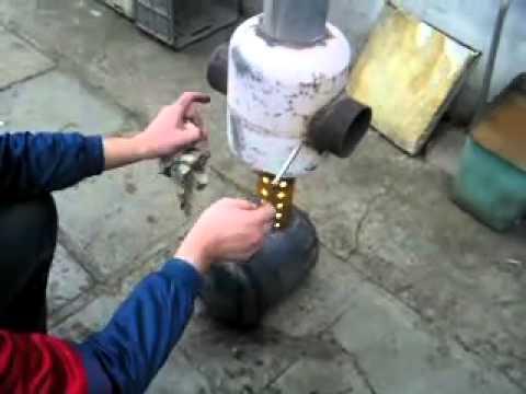 Печка на опилках своими руками