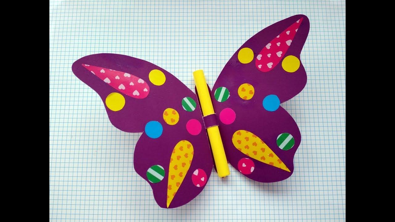 Как сделать с детьми бабочку 596