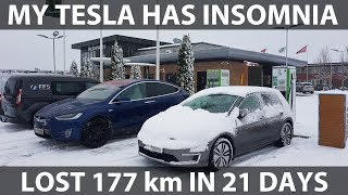 My Tesla lost 177 km/110 mi while parked