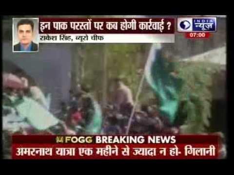 Pakistani flags again raised at separatist leader Geelani's rally in Tral