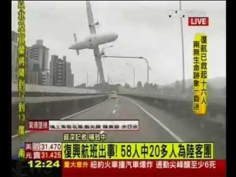 TransAsia plane crash-lands in river in Taiwan