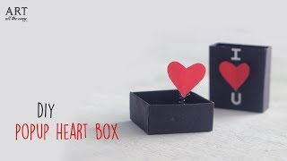 DIY Pop-up Heart Box   Handmade Cards   Card Making Ideas