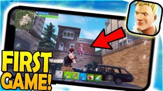 FORTNITE MOBILE GAMEPLAY FIRST GAME + *DOWNLOAD* - Mobile Fortnite Battle Royale iPhone X Gameplay