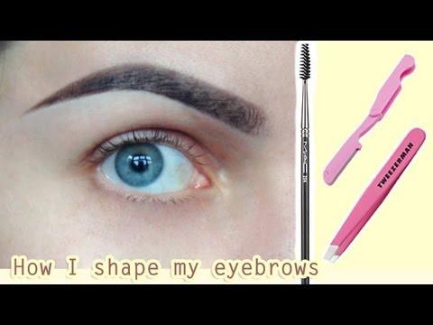 Коррекция БРОВЕЙ   Как я придаю ФОРМУ своим бровям   Как ОТРАСТИТЬ брови   Eyebrow Routine