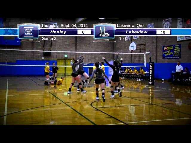 LHS volleyball highlights: Henley at Lakeview 9-04-2014